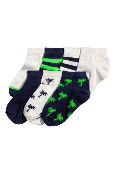 7-pack trainer socks - Dark blue/Palms - Kids | H&M CN