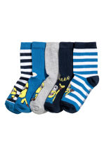 5-pack socks - Blue/Minions - Kids | H&M 1