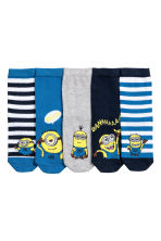 5-pack socks - Blue/Minions - Kids | H&M 2