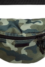 Waist bag - Khaki green/Patterned - Men | H&M CA 2