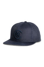 Cap with embroidery - Dark blue - Men | H&M 1