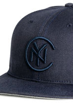 Cap with embroidery - Dark blue - Men | H&M 4