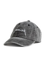 Cap with embroidery - Grey black/Metallica - Men | H&M 1