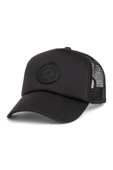 Cap with an appliqué - Black - Men | H&M 1