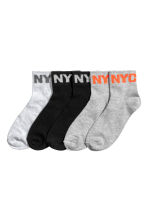5-pack sports socks - Black/New York - Kids | H&M 1