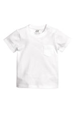 Cotton T-shirt - White - Kids | H&M 1