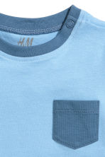 Cotton T-shirt - Blue/Anchor - Kids | H&M CA 2