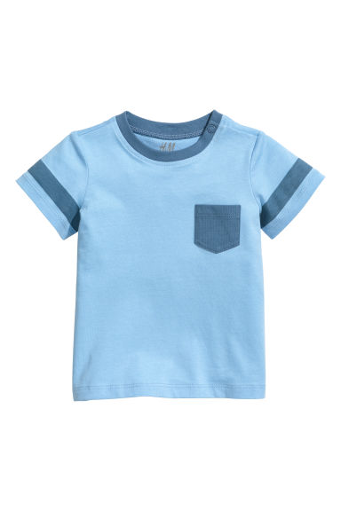 Cotton T-shirt - Blue/Anchor - Kids | H&M CA 1