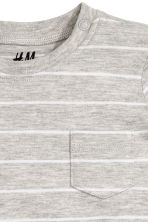 Cotton T-shirt - Grey marl/Striped - Kids | H&M CN 2