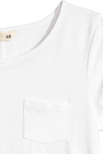 Slub jersey top - White -  | H&M 3