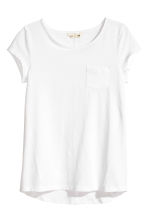 Slub jersey top - White -  | H&M 2