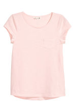 Slub jersey top - Light pink - Kids | H&M CA 2