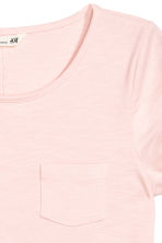 Slub jersey top - Light pink - Kids | H&M CA 3