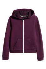 Hooded jacket - Plum - Kids | H&M 2