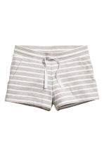 Short jersey shorts - Light grey/Striped - Kids | H&M 1