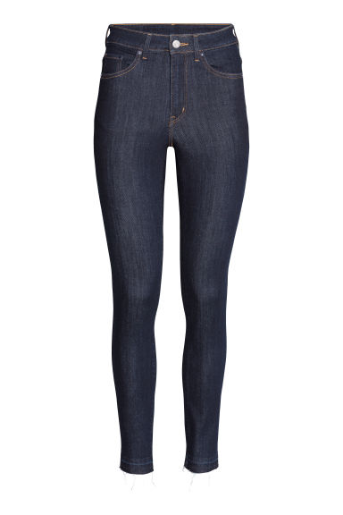 Skinny High Waist Jeans - Dark blue - Ladies | H&M CN 1