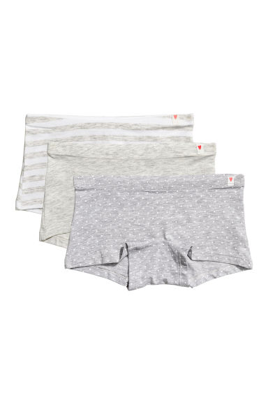 3-pack boxer briefs - Grey marl - Kids | H&M CN 1