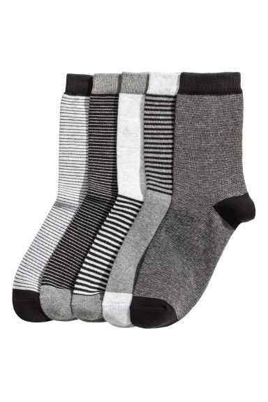 5雙入短襪 - Grey marl/Striped - Kids | H&M 1