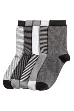5-pack Socks - Gray melange/striped - Kids | H&M CA 1