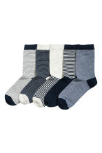 5-pack socks - Dark blue -  | H&M CN 1