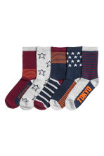 5-pack socks - Burgundy -  | H&M CN 1