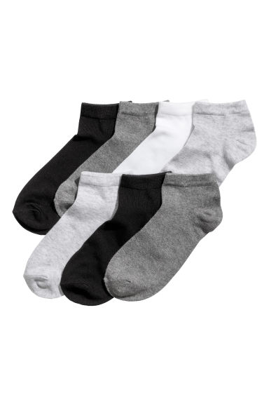 7-pack trainer socks - Grey marl - Kids | H&M CN