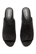 Platform mules - Black - Ladies | H&M 2
