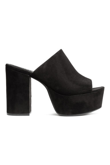 Platform mules - Black - Ladies | H&M