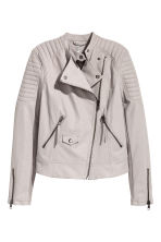 Biker jacket - Grey beige - Ladies | H&M CN 2