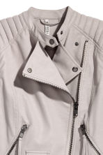 Biker jacket - Grey beige - Ladies | H&M 3