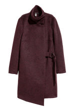 Wrapover coat - Plum/Marled - Ladies | H&M CN 2