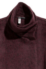 Wrapover coat - Plum/Marled - Ladies | H&M CN 3