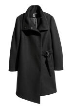 Cappotto con incrocio - Nero - DONNA | H&M IT 2