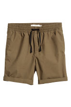 Knee-length cotton shorts - Khaki - Men | H&M 2