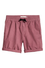 Knee-length cotton shorts - Pale red - Men | H&M CN 2