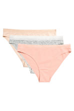 3-pack bikini briefs - Grey marl - Ladies | H&M CN 2