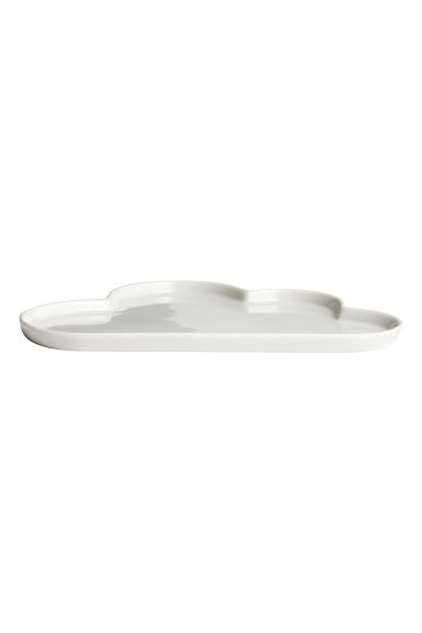 Cloud-shaped porcelain plate - White - Home All | H&M CA 1