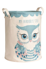Patterned Storage Basket - Turquoise/owl - Home All | H&M CA 2