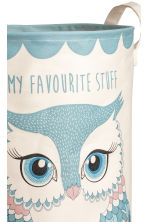 Patterned storage basket - Turquoise/Owl - Home All | H&M CN 3