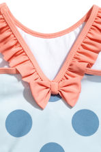 Swimsuit with frills - Light blue/Spotted -  | H&M 3