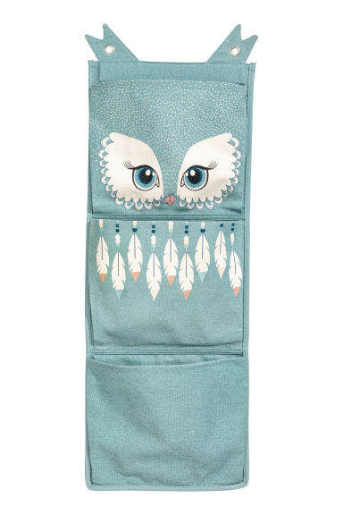Canvas wall-hanging storage - Turquoise - Home All | H&M CN