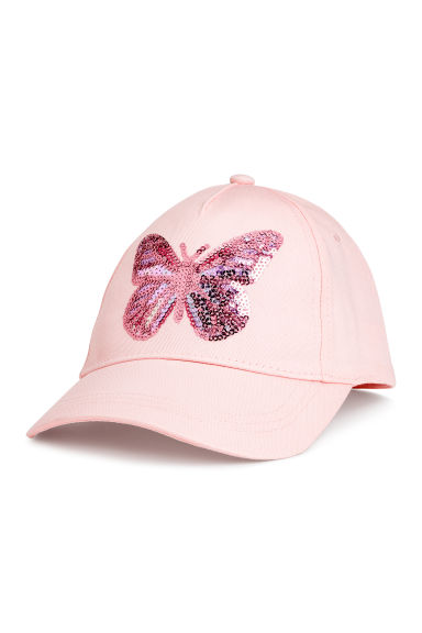 Cotton cap - Light pink/Butterfly - Kids | H&M CN