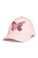 棉質鴨舌帽 - Light pink/Butterfly -  | H&M 1