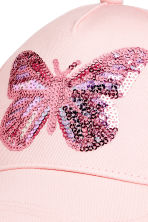 棉質鴨舌帽 - Light pink/Butterfly -  | H&M 3