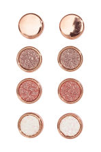 4 pairs round earrings - Rose gold-coloured - Ladies | H&M 1