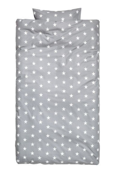Star-print duvet cover set - Grey -  | H&M CA 1