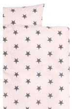 Star-print duvet cover set - Light pink -  | H&M CA 2