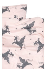 Patterned duvet cover set - Light pink/Unicorn - Home All | H&M CA 2
