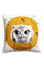 Cushion cover with print motif - Mustard yellow/Owl - Home All | H&M CA 2