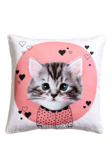 Cushion cover with print motif